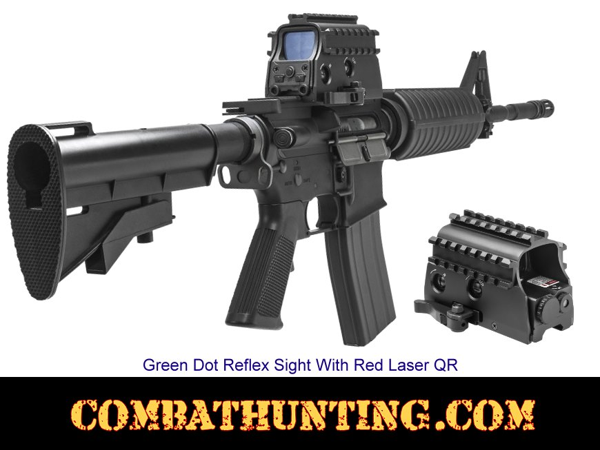 Green Dot Sight With Laser Sight 3 Armored Rails style=