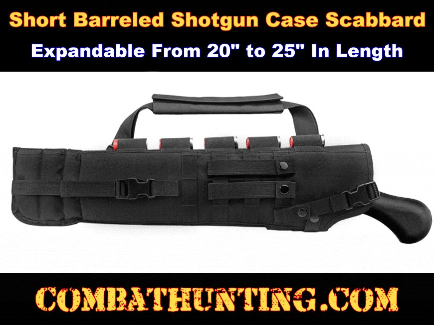 Short Barrel Shotgun Scabbard Tactical Black style=
