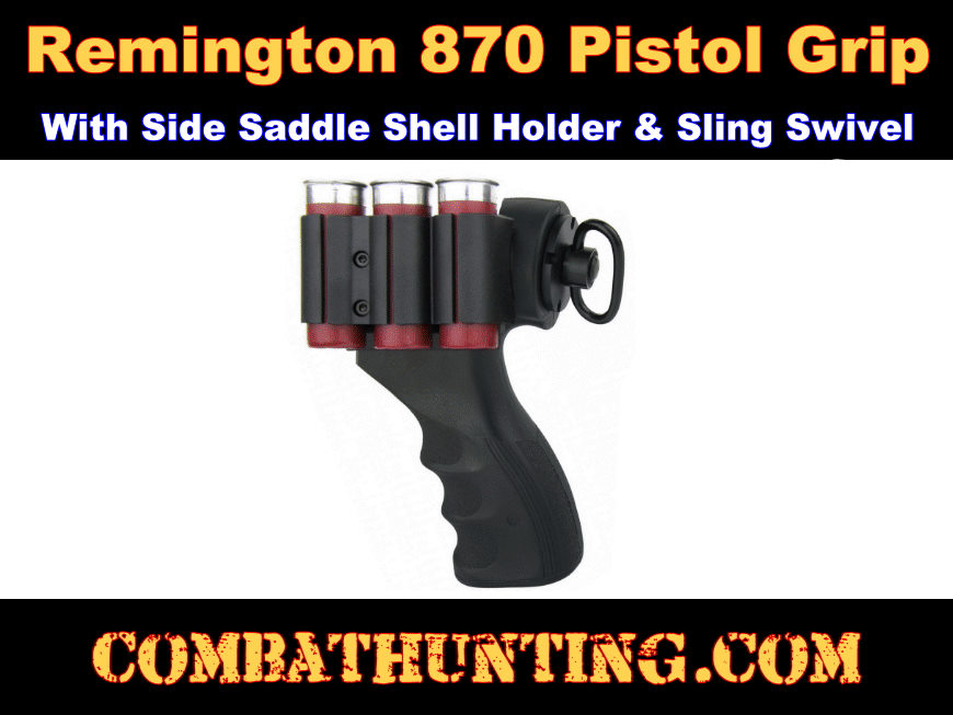 Remington 870 Pistol Grip With Side Saddle & Sling Mount style=