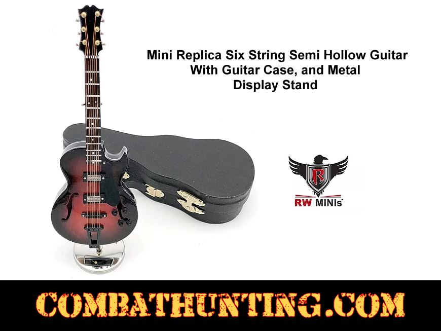 Replica Six String Semi-Hollow Guitar With Case style=