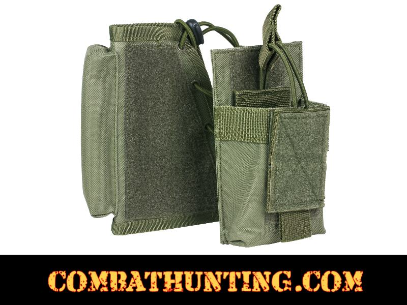 Tactical Cheek Pad Stock Riser With Magazine Pouch Green style=