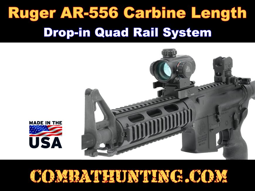 Ruger AR-556 Quad Rail Carbine Length Drop-in style=