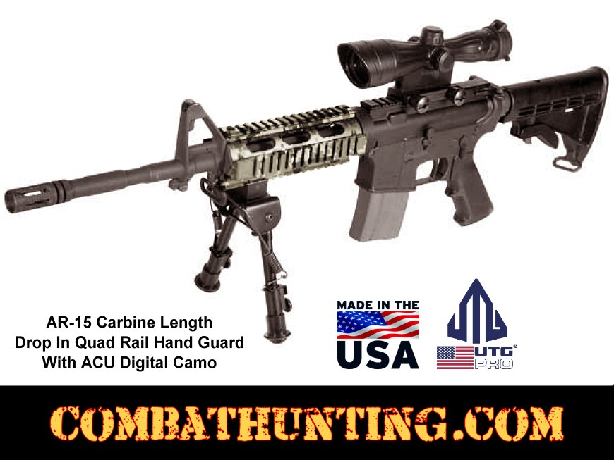 ACU Digital Ruger AR 556 Quad Rail Hand Guard style=