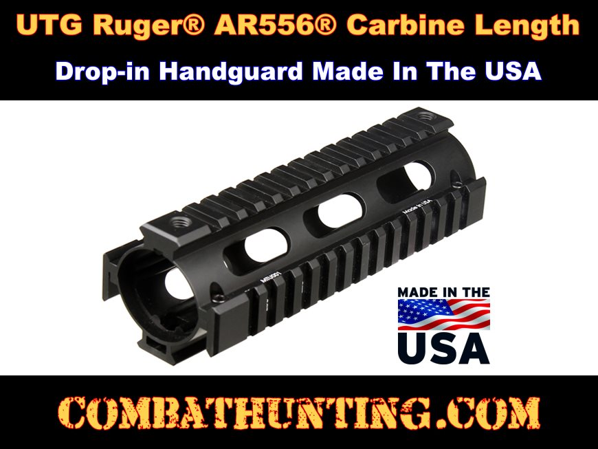 Ruger AR-556 Drop In Quad Rail style=