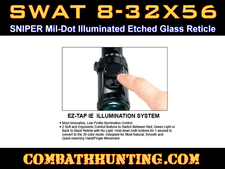 Leapers 8-32X56 36 Color IE Scope SWAT AO Sniper Mil-Dot style=