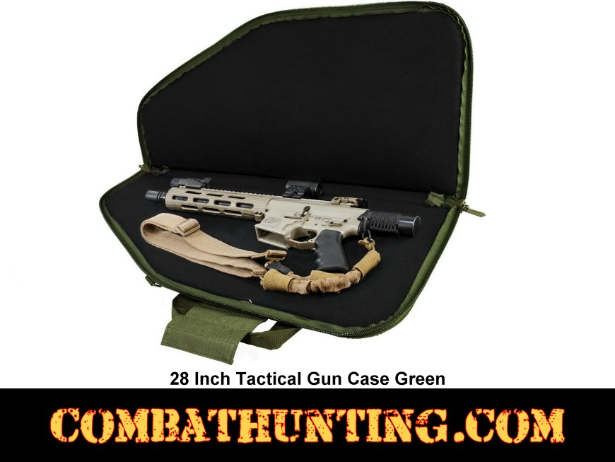 Military Green 28 Inch Tactical Gun Case style=