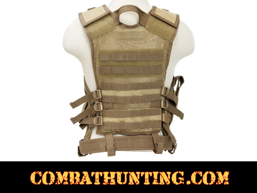 Ncstar Military Tan Tactical Vest 2X style=