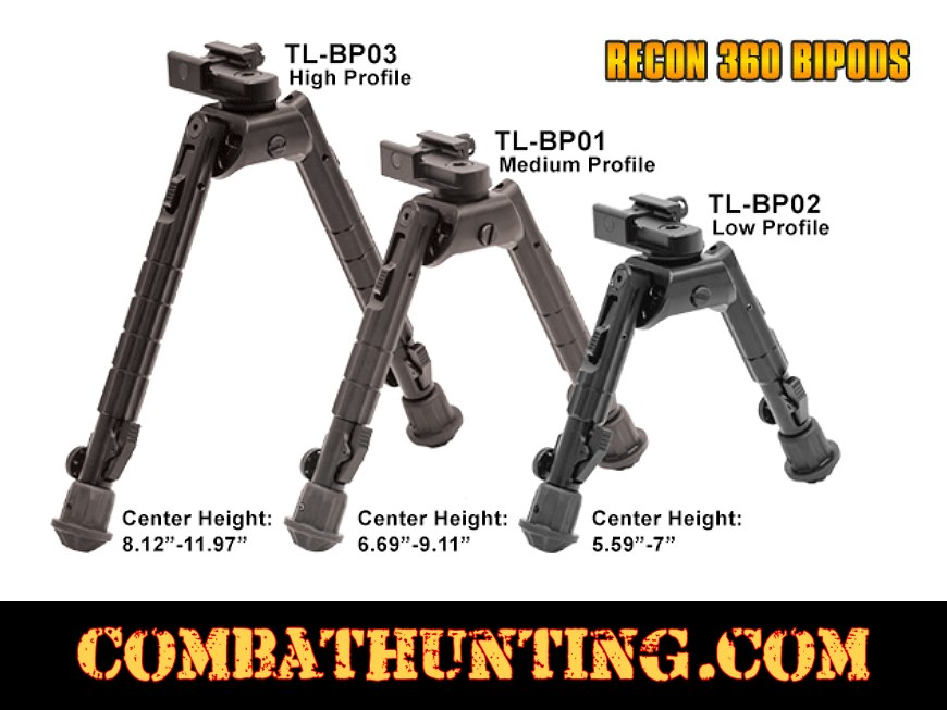 UTG Heavy Duty Recon 360 Bipod Center Height 8.12-11.97 style=