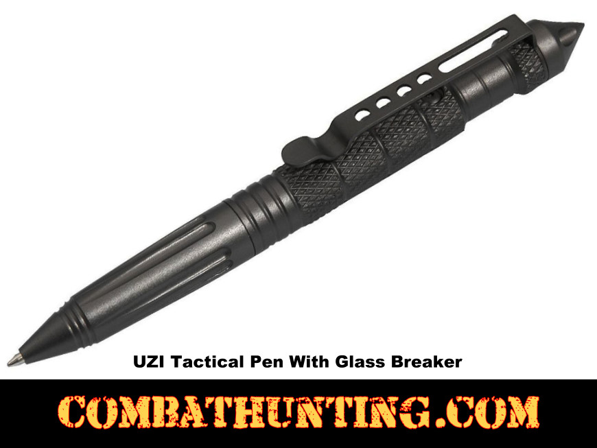 UZI Tactical Pen With Glass Breaker style=