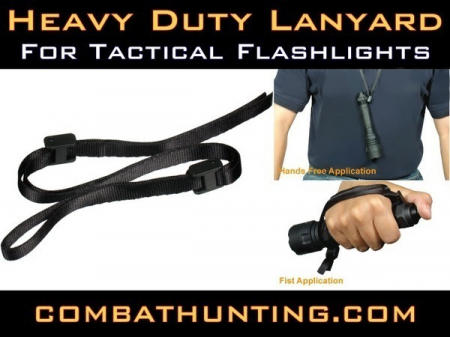 Tactical Flashlight Heavy Duty Lanyard QR Locks