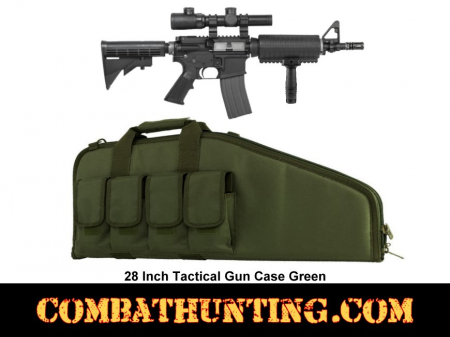 Military Green 28 Inch Tactical Gun Case