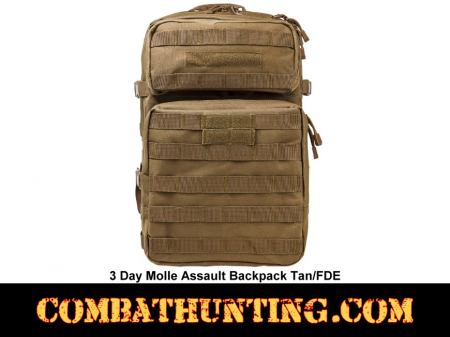 3 Day Molle Assault Backpack Tan/FDE