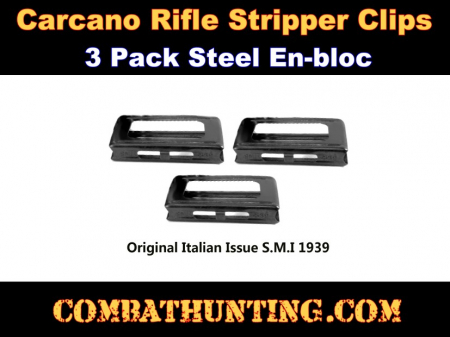Carcano Rifle Stripper Clips 3 pack Steel En-bloc