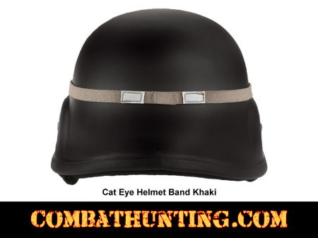 Cat Eye Helmet Band GI Style Khaki