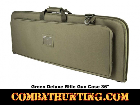 Deluxe Rifle Case Soft Gun Case 36 Inches Green