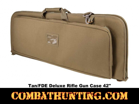 Deluxe Rifle Case Soft Gun Case 42 Inches Tan/FDE