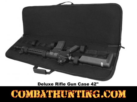 Deluxe Black Rifle Case Soft Gun Case 42 Inches