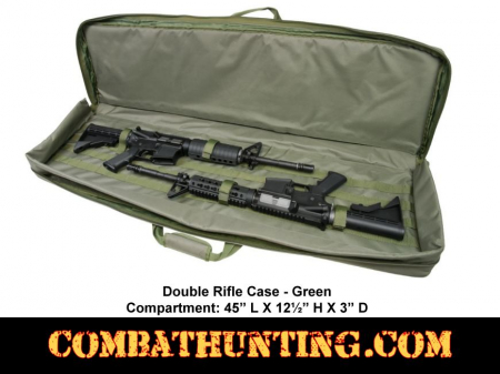 Double Rifle Case  Od Green 45 Inch
