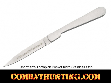Fisherman's Toothpick Pocket Knife Folding Blade Stainless Steel