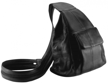 Solid Genuine Leather Hobo Sling/Backpack Purse