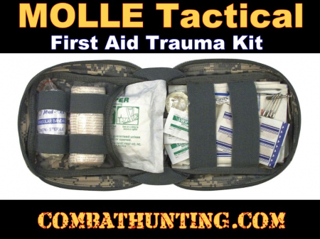 ACU Digital Camouflage MOLLE Tactical Trauma Kit Fully Stocked