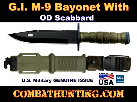 G.I. M9 Bayonet Genuine Issue