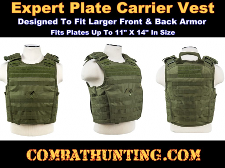 Ncstar Expert Plate Carrier Vest Army Green