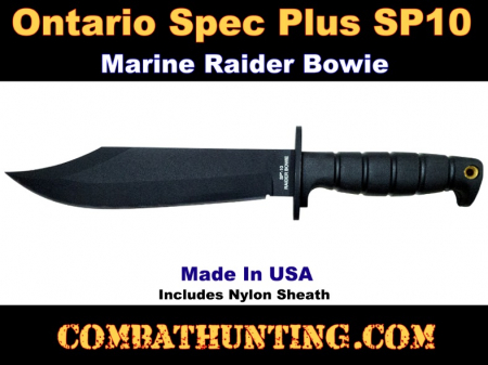 Ontario Spec Plus SP10 Marine Raider Bowie Knife