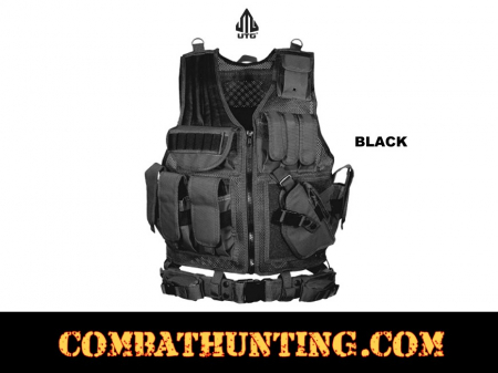 UTG Tactical Vest With Quick Draw Holster Pouch & Belt
