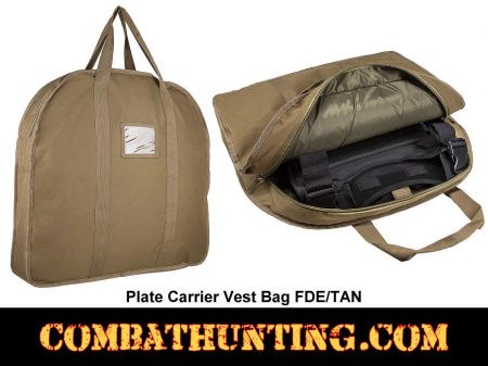 Plate Carrier Vest Bag FDE/TAN