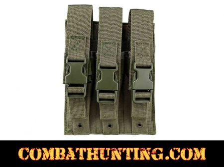 Green Triple Magazine Pouch MOLLE High Capacity