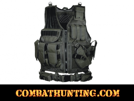 UTG® 547 Law Enforcement Tactical Vest, Right Handed, Black