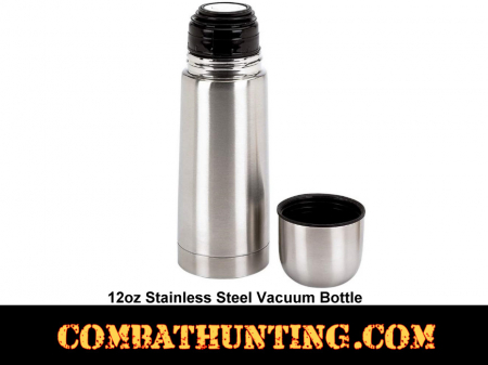 Vacuum Bottle 12oz Classic Stainless Steel
