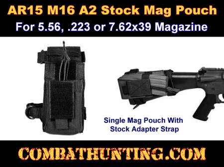 AR15 A2 Molle Butt Stock Mag Pouch Black