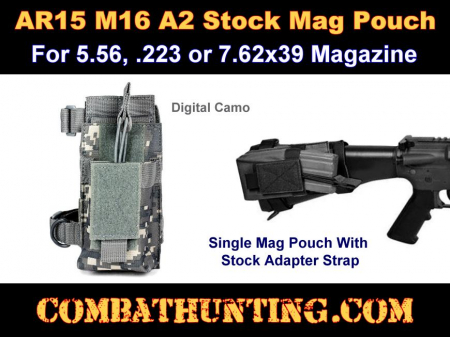 AR15 A2 Butt Stock Mag Pouch Digital Camo