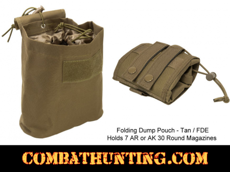 Folding Dump Pouch Tan / FDE MOLLE Compatible