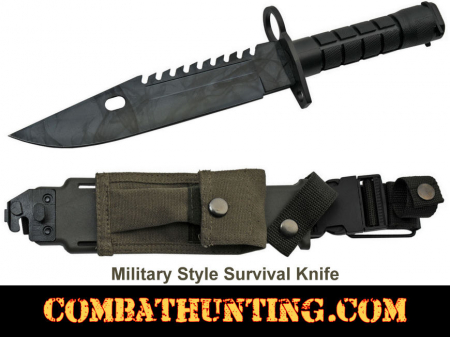 Military Style Survival Knife With Sheath
