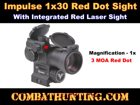 1x30 Red Dot Sight with Integrated Red Laser Sight